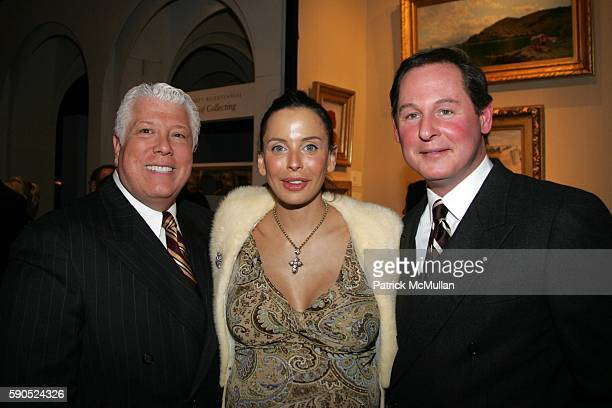 Dennis Basso Lisa Falcone and Keith Langham attend The 51st Annual Winter Antiques Show Benefiting the East Side House Settlement at The Seventh...