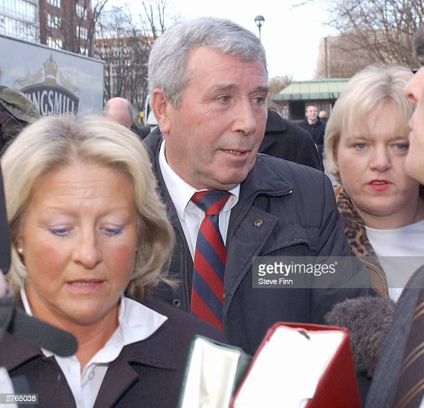 Dennis Bell the uncle of Eastenders actress Jessie Wallace real name Karen Jane Wallace is seen at her trial for drunk driving at Southend...