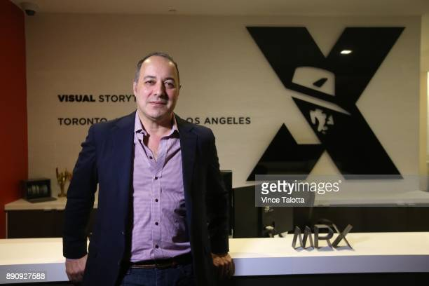 Dennis Berardi founder of Mr X Toronto's redhot visual effects studio behind some of the year's biggest films poses for pictures at their office in...