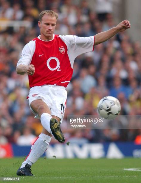 Dennis Bergkamp of Arsenal in action during the FA Barclaycard Premiership match between Arsenal and Bolton Wanderers at Highbury in London on...