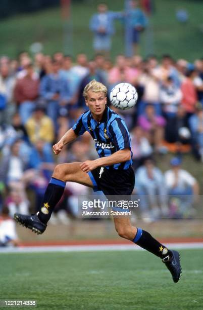 Dennis Bergkamp of FC Internazionale in action during the Serie A 199394 Italy
