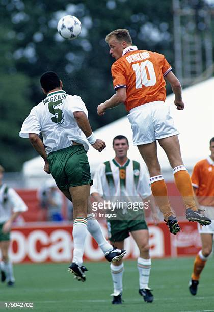 Dennis Bergkamp of the Netherlands during the World Cup 1994 match between Ireland and The Netherlands on july 4 1994 in Orlando Florida United States