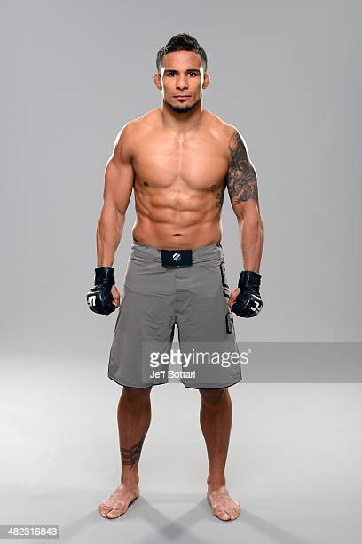 Dennis Bermudez poses for a portrait during a UFC photo session on March 12 2014 in Dallas Texas