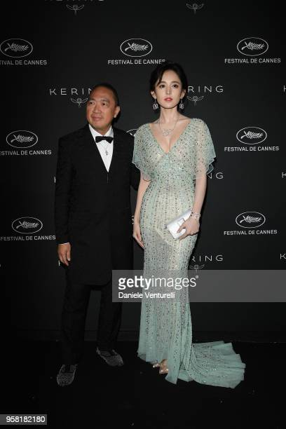 Dennis Chan and Coulee Nazha attend the Women in Motion Awards Dinner presented by Kering and the 71th Cannes Film Festival at Place de la Castre on...