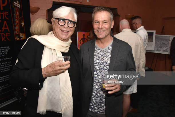 Dennis de Groot and Jim Cain attend the House Of Cardin Special Screening At Palm Springs Modernism Week at The Plaza Theater on February 21 2020 in...