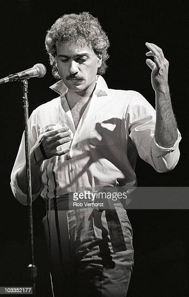 Dennis DeYoung of Styx performs on stage at Ahoy on 10th November 1981 in Rotterdam Netherlands