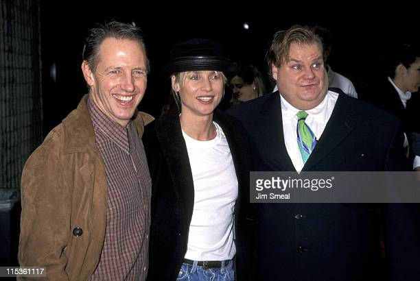 Dennis Dugan Nicollette Sheridan and Chris Farley