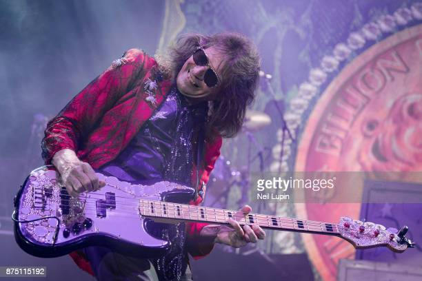 Dennis Dunaway of the Alice Cooper Band performs at Wembley Arena on November 16 2017 in London England