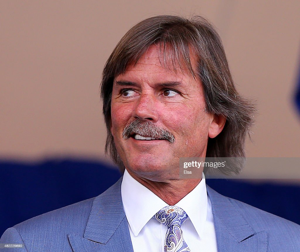 Dennis Eckersley attends the Hall of Fame Induction Ceremony at National Baseball Hall of Fame on July 26, 2015 in Cooperstown, New York. Craig Biggio,Pedro Martinez,Randy Johnson and John Smoltz were inducted in this year's class.