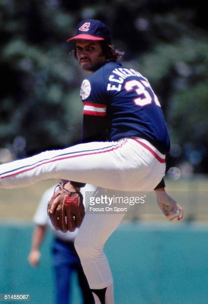 Dennis Eckersley of the Cleveland Indians pitches Dennis Exkersley was voted AllStar in 1977