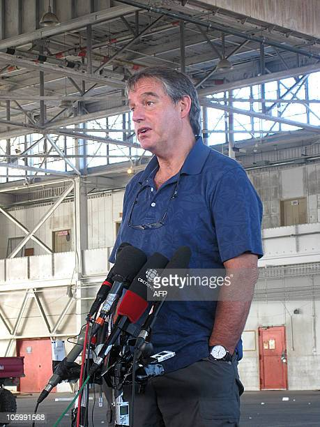 Dennis Edney Canadian defense attorney for Omar Khadr talking to the press at the Guantanamo Naval base saying there is no plea deal yet one day...