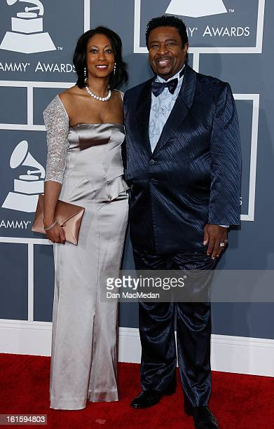 Dennis Edwards and Brenda Edwards arrive at the 55th Annual Grammy Awards at the Staples Center on February 10, 2013 in Los Angeles, California.
