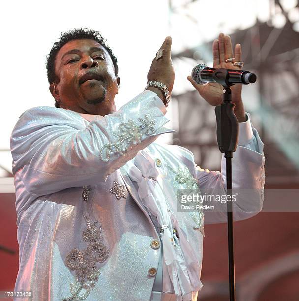 Dennis Edwards and The Temptations performs during the Jazz A Vienne festival on July 8, 2013 in Vienne, France.
