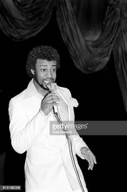 Dennis Edwards perfoming with The Temptations at Radio City Music Hall in New York City on July 15 1982