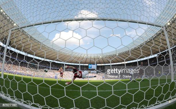 Dennis Eilhoff of Bielefeld in action during the Bundesliga match between Hertha BSC Berlin and Arminia Bielefeld at the Olympic stadium on August 23...
