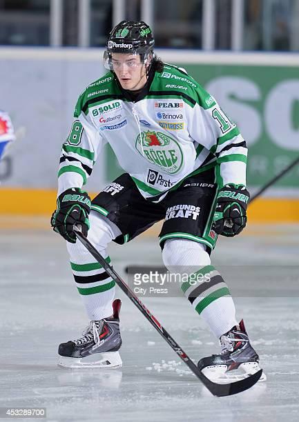 Dennis Everberg during a Hockey Allsvenskan game in Ängelholm Sweden