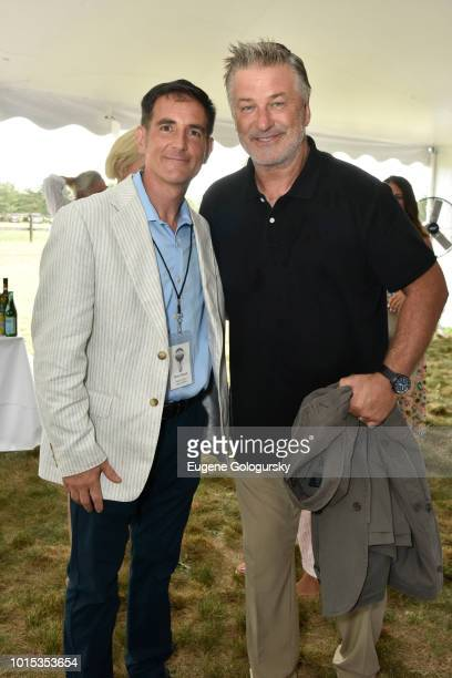 Dennis Fabiszak and Alec Baldwin attend Authors Night At East Hampton Library on August 11 2018 in East Hampton New York