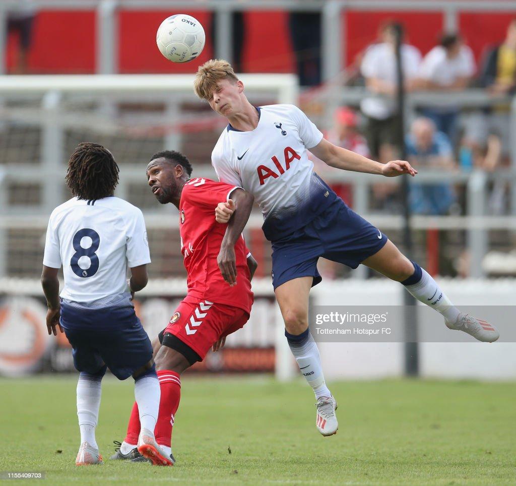 Ebbsfleet United v Tottenham Hotspur U23: Pre-Season Friendly : News Photo