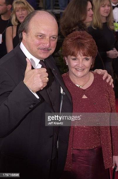 Dennis Franz and Joanie Zeck during 2001 Screen Actors Guild Awards at Shrine Auditorium in Los Angeles California United States