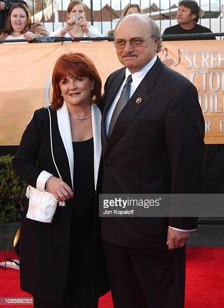 Dennis Franz with wife Joanie Zeck during 2005 Screen Actors Guild Awards Arrivals at The Shrine in Los Angeles California United States