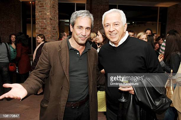 Dennis Freedman and Paul Marciano during GUESS and W Magazine Party for Behind the Lens The Next GUESS Fashion Photographer at Spike Gallery in New...