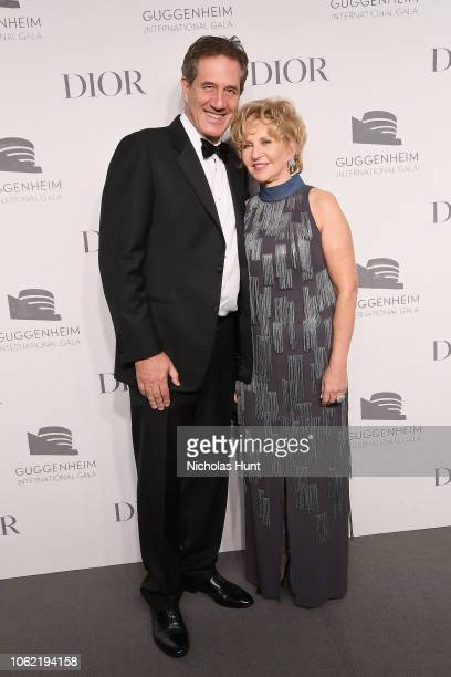 Dennis Goodman and Wendy Fisher attend the Guggenheim International Gala Dinner made possible by Dior at Solomon R Guggenheim Museum on November 15...