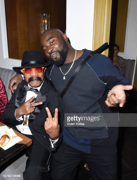 Dennis Graham and Celestine Amajoyi attend The Mod Sèlection Champagne New Years Party Hosted By Drake And John Terzian at Delilah on December 31...