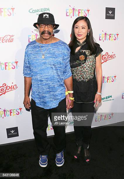 Dennis Graham and guest attend EpicFest 2016 hosted by LA Reid and Epic Records at Sony Studios on June 25 2016 in Los Angeles California