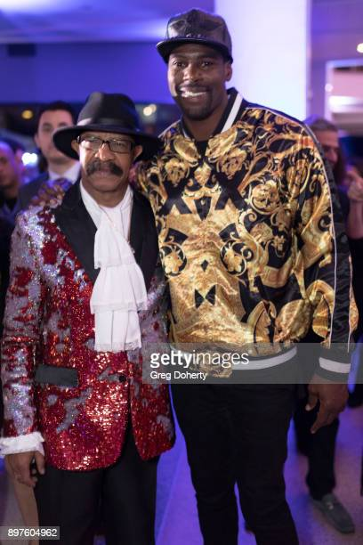 Dennis Graham and Sheldon Bailey attend the Rio Vista Universal's Valkyrie Awards and Holiday Party on December 16 2017 in Los Angeles California