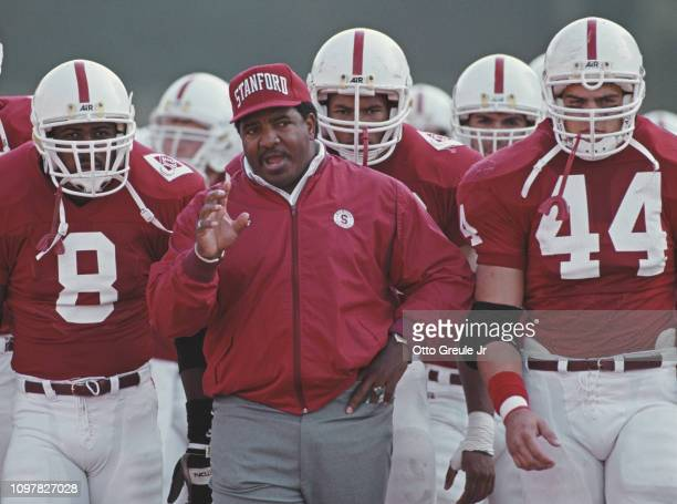 Dennis Green head coach for the Stanford Cardinal during the NCAA Pac 10 Conference college football game against the University of California Golden...