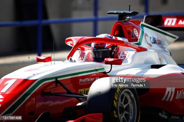 Dennis Hauger of Norway and Prema Racing at Circuito de Jerez on May 12, 2021 in Jerez de la Frontera, Spain.