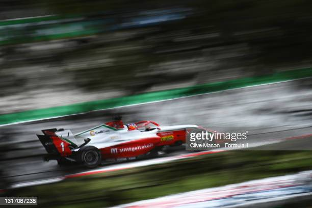 Dennis Hauger of Norway and Prema Racing drives during race 3 of Round 1:Barcelona of the Formula 3 Championship at Circuit de Barcelona-Catalunya on...