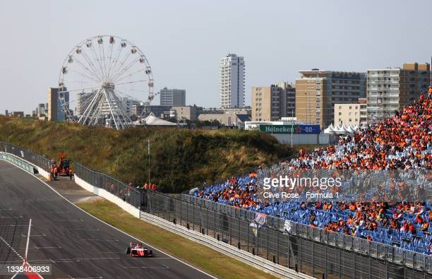 Dennis Hauger of Norway and Prema Racing drives during race 3 of Round 6:Zandvoort of the Formula 3 Championship at Circuit Zandvoort on September...