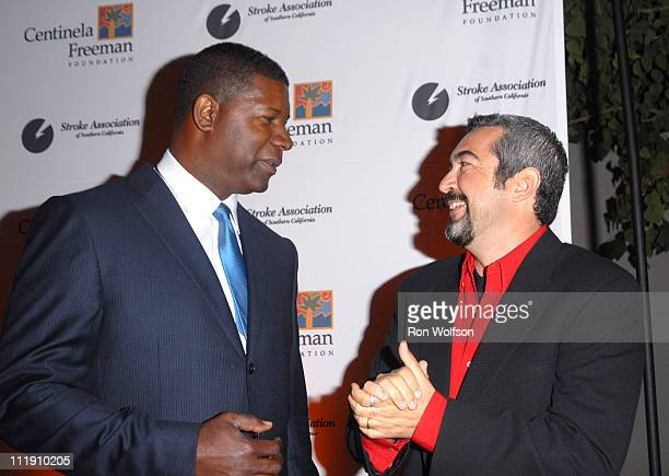 Dennis Haysbert and Jon Cassar during The Stroke Recovery Center Benefit Honoring Howard Gordon With Honorary CoChair Kiefer Sutherland in Los...