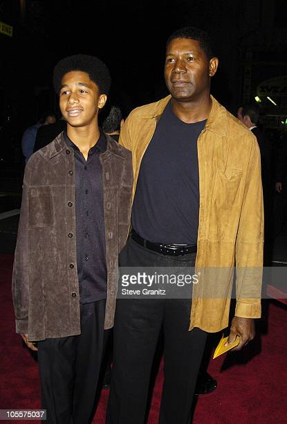 Dennis Haysbert and son Charles during Alexander Los Angeles Premiere Arrivals at Grauman's Chinese Theatre in Hollywood California United States