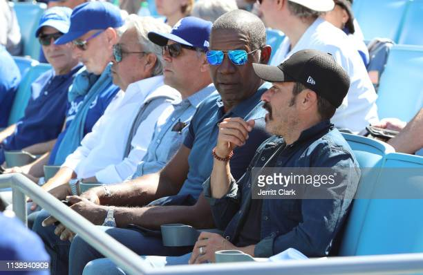 Dennis Haysbert attends The Los Angeles Dodgers Game Opening Day at Dodger Stadium on March 28 2019 in Los Angeles California