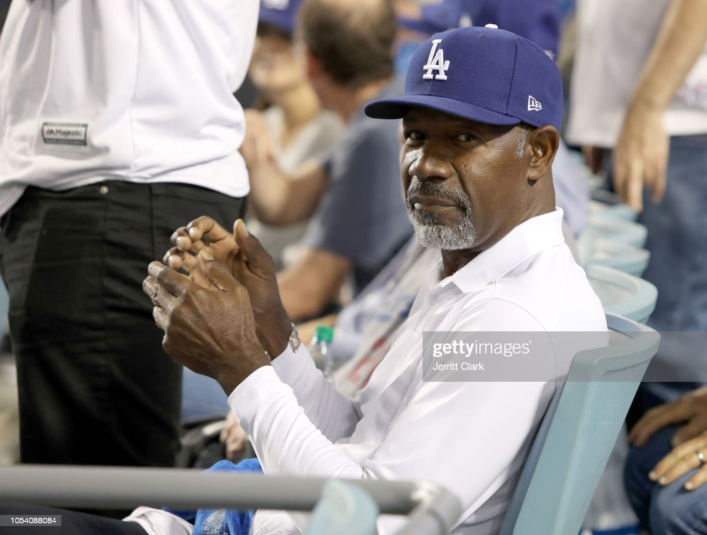 Celebrities At The Los Angeles Dodgers Game - World Series - Boston Red Sox v Los Angeles Dodgers - Game Three : News Photo