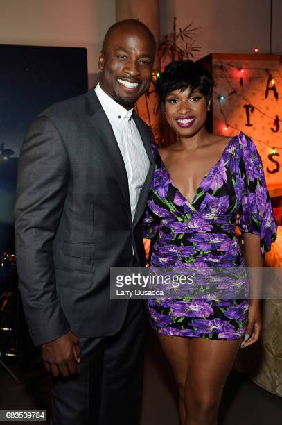 Dennis Haysbert of Reverie and Jennifer Hudson attend the Entertainment Weekly and PEOPLE Upfronts party presented by Netflix and Terra Chips at...