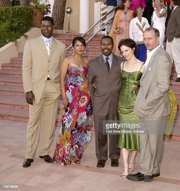 Dennis Haysbert, Penny Johnson Jerald, Gralin Jerald, Sarah Clarke and Xander Berkeley at the Monte Carlo Beach Hotel in Monte Carlo, Monaco.