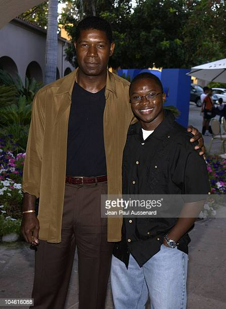 Dennis Haysbert Vicellous Shannon during Fox Broadcasting Summer 2002 Press Tour Day 1 at Ritz Carlton Hotel in Pasadena California United States