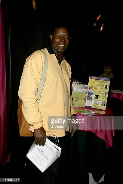 Dennis Haysbert with AssilSinskey Eye Insititute during 2004 Screen Actors Guild Awards Backstage Creations Day One at The Shrine Auditorium in Los...