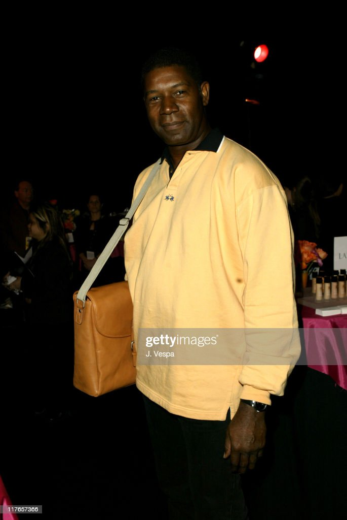 Dennis Haysbert with Kenneth Cole New York during 2004 Screen Actors Guild Awards - Backstage Creations Day One at The Shrine Auditorium in Los Angeles, California, United States.