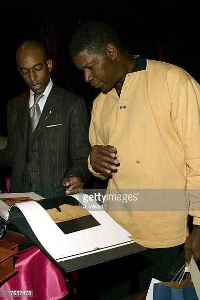 Dennis Haysbert with Stefano Ricci during 2004 Screen Actors Guild Awards Backstage Creations Day One at The Shrine Auditorium in Los Angeles...