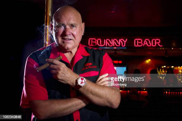 Dennis Hof owner of the Moonlite Bunny Ranch stands for a photograph inside the Moonlite Bunny Ranch in Mound House Carson City Nevada US on Tuesday...