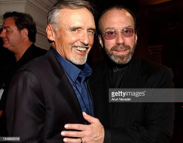 Dennis Hopper and Bernie Yuman of Ziegfied and Roy