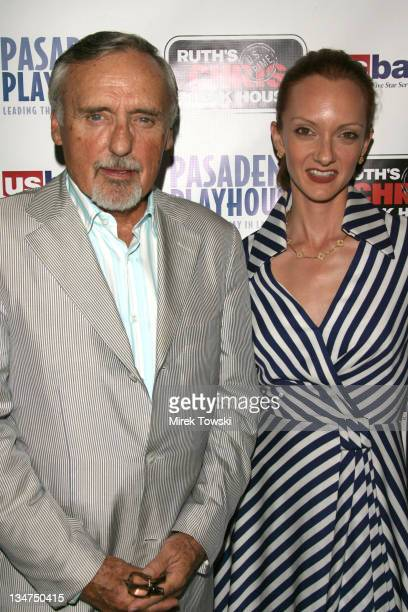 Dennis Hopper and his wife Victoria Duffy during Opening Night of August Wilson's Play Fences at Pasadena Playhouse in Pasadena California United...
