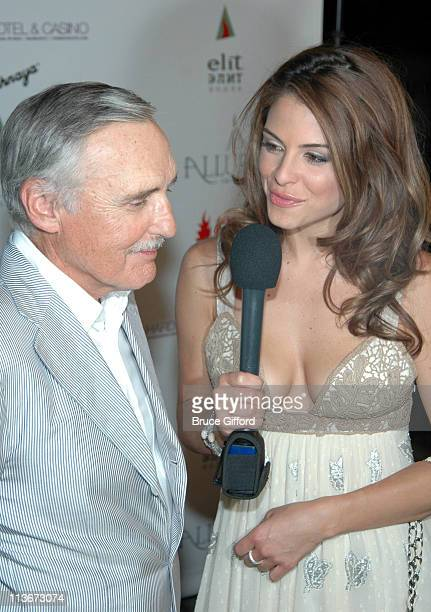 Dennis Hopper and Maria Menounos during 2006 CineVegas Day 8 Honoree's Reception At The Hard Rock Hotel Casino at Hard Rock Hotel Casino in Las Vegas...
