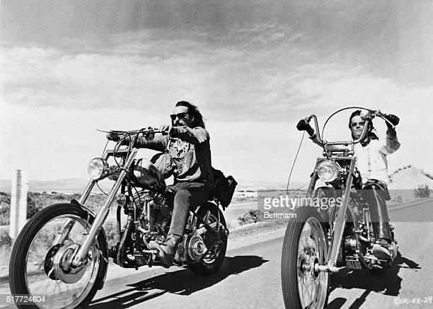 "Dennis Hopper and Peter Fonda in scene from the movie: ""Easy Rider."" June 30, 1969."