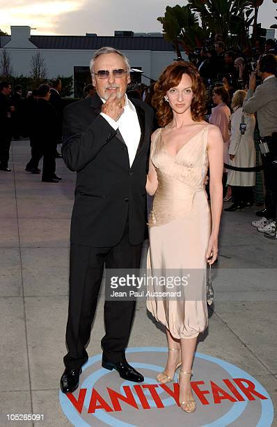 Dennis Hopper and Victoria Duffy during 2004 Vanity Fair Oscar Party Arrivals at Mortons in Beverly Hills California United States