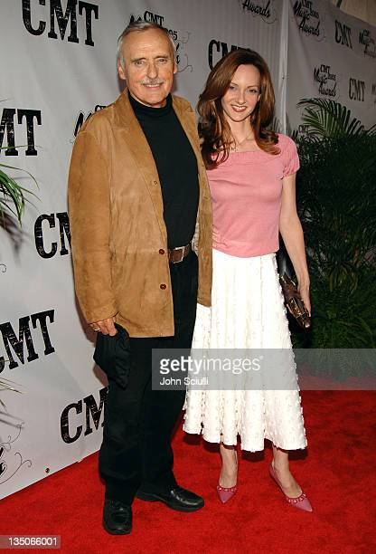Dennis Hopper and Victoria Duffy during 2005 CMT Music Awards Arrivals at Gaylord Entertainment Center in Nashville Tennessee United States